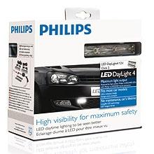 Дневные ходовые огни Philips 4 LED Daytime Lights 12820WLEDX1