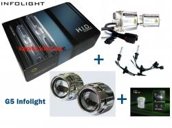 Билинзы G5 + ксенон Infolight + LED АКЦИЯ!